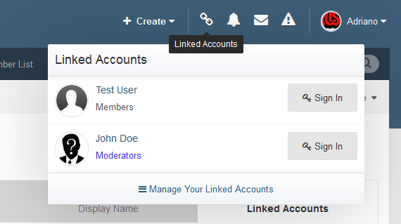 Linked Accounts - Post As