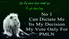 My Vote only for PMLN